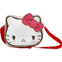 Lancheira Hello Kitty®- Branca & Vermelha- 26X22X15Cxeryus