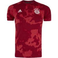 Camisa Pré-Jogo Bayern De Munique 19/20 Adidas - Masculina - Vermelho
