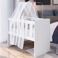 Berço Bedside Sleepers Com Balanço Bs1003 Branco - Art In Móveis