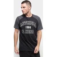 Camiseta Mitchell & Ness Raglan Sport Masculina - Masculino-Preto