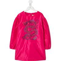 Kenzo Kids Blusa Com Estampa De Dragão - Rosa