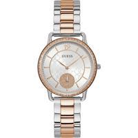 Relógio Guess Feminino Aço Prateado E Rosé - W1290L2