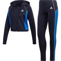 Agasalho Adidas W Ts Hd&Tght Azul
