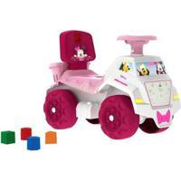 Andador Infantil Bandeirante Minnie - Feminino-Rosa+Branco
