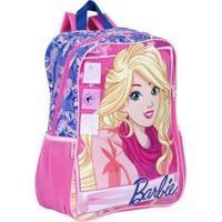 Mochila Grande Barbie 18M Infantil Sestini - Feminino-Rosa