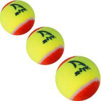 Bola De Tênis Beach Tennis Shark - 3 Unidades - Amarelo Fluor