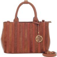 Bolsa Smartbag Couro Pelo/Camurça Whisky - 72048.17