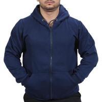 Blusa Ramazzoni Frio Moletom Ziper Masculina - Masculino-Azul Escuro