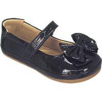 Sapato Boneca Em Couro Envernizado- Preta- Kidskimey
