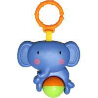 Chocalho Elefante- Azul & Laranja- 22,5X14X5Cm- Dican