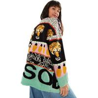Casaco Tricot Patchs Bicho Solto