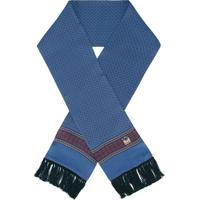 Dolce & Gabbana Cachecol De Seda Com Estampa - Azul