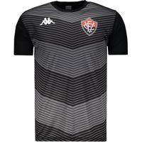 Camisa Kappa Vitória Treino Goleiro 2019 Preta