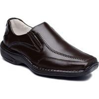 Sapato Casual Masculino Couro De Carneiro Confort Ranster - Masculino-Café