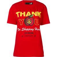 Love Moschino Camiseta Com Estampa Thank You For Shopping Here - Vermelho