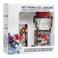 Kit Hora Do Lanche Nintendo Super Mario Kart Porta-Lanche + Cantil