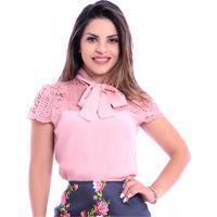 Blusa Miss Lady Crepe Rosé