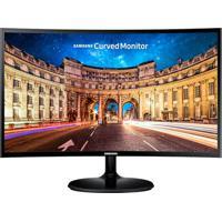 Monitor Curvo Full Hd Samsung Led 24 Polegadas C24F390 Preto