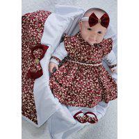 Saída De Maternidade Rosa Marsala