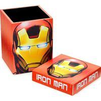 Caixa Homem De Ferroâ®- Vermelha & Amarelo Escuro- 20Mabruk