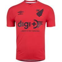 Camisa Do Athletico-Pr Aquecimento 2020 Umbro - Masculina - Vermelho