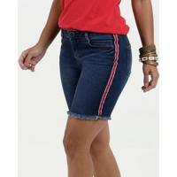 Bermuda Feminina Jeans Listra Marisa