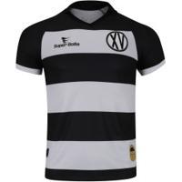 Camisa Do Xv De Piracicaba I 2019 Nº 15 Super Bolla - Masculina - Preto/Branco