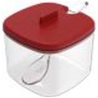 Açucareiro Com Tampa E Colher Para Servir Porta Açúcar Cozinha Vermelho