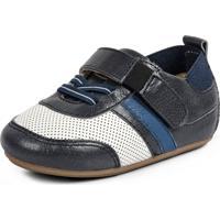 Tenis Bebe Flexy - Azul Jeans / Branco / Azul Bic