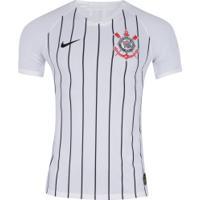 Camisa Do Corinthians I 2019 Nike - Jogador - Branco/Preto