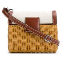 Rodo Straw Shoulder Bag - Marrom