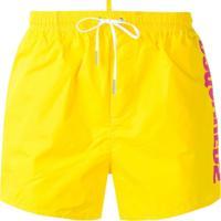 Dsquared2 Short De Natação Com Logo - Amarelo