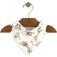 Babador Cachorro- Off White & Cinza- 16X25Cmup Baby - Up Kids