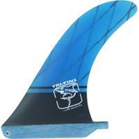 Quilha Central Longboard Com Carbono - Azul - 7,5'' Tri-Fins - Unissex