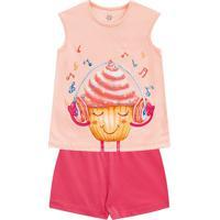 Pijama Cupcake- Rosa & Rosa- Primeiros Passos- Bbrandili