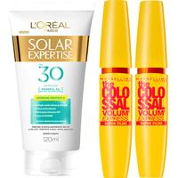 Kit 2 Máscaras De Cílios The Colossal Super Filme + Protetor Solar L'Oréal Paris Fps30 120Ml - Feminino