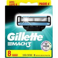 Carga Para Aparelho De Barbear Gillette Mach3 8 Unidades - Masculino-Azul