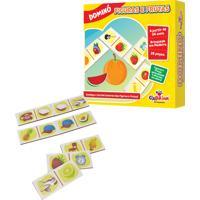 Jogo Educativo Domino Figuras E Frutas Ciabrink Colorido