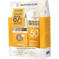 Kit Protetor Solar Gel Creme Corporal Fps50 E Protetor Solar Facial Fps50 Australian Gold Australian Gold | Australian Gold | Kit