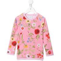 Oscar De La Renta Kids Camiseta Com Estampa Floral - Rosa