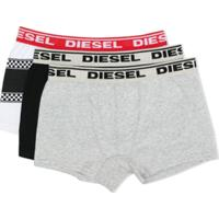 Diesel Kids Conjunto 3 Cuecas Boxer - Branco