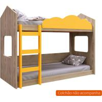 Beliche Montessoriano Bell Unissex Carvalho E Amarelo