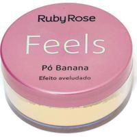 Pó Banana Feels Ruby Rose Único Multicores