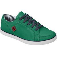 Tênis Em Couro Com Tag- Verde Escuro & Azul Marinhokea