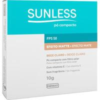 Pó Compacto Sunless Com Fps 50 Sunless Bege Claro - Feminino-Incolor