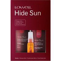 Lowell Hide Sun Kit - Shampoo + Condicionador + Fluído Kit - Unissex-Incolor