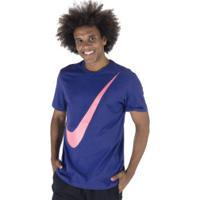 Camiseta Nike Swoosh - Masculina - Azul/Rosa Cla