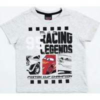 Camiseta Infantil Mcqueen Carros Disney