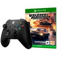Controle Microsoft Xbox, Sem Fio, Preto - Qat-00007 + Game Velozes E Furiosos: Encruzilhada