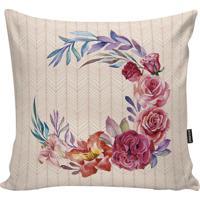 Capa Para Almofada Flowers- Rosa & Rosa Pastel- 45X4Stm Home
